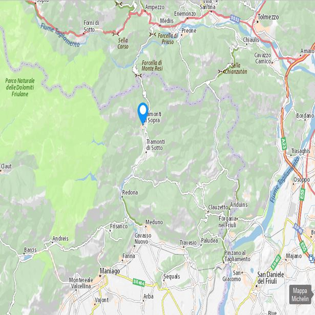 Cartina Tramonti di Sopra