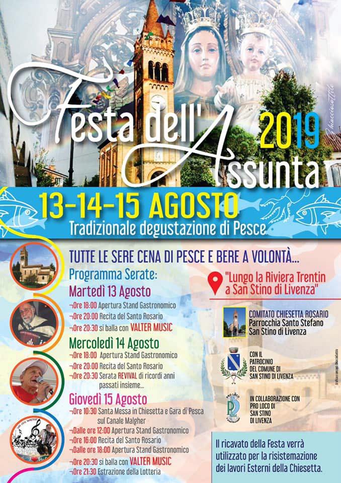 Programma Festa dell'Assunta 2019